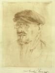Nicolae Vermont - Autoportret cu sapca