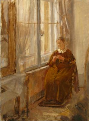Nicolae Vermont - Batrana la fereastra