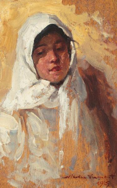 Nicolae Vermont - Țărăncuță cu broboadă albă