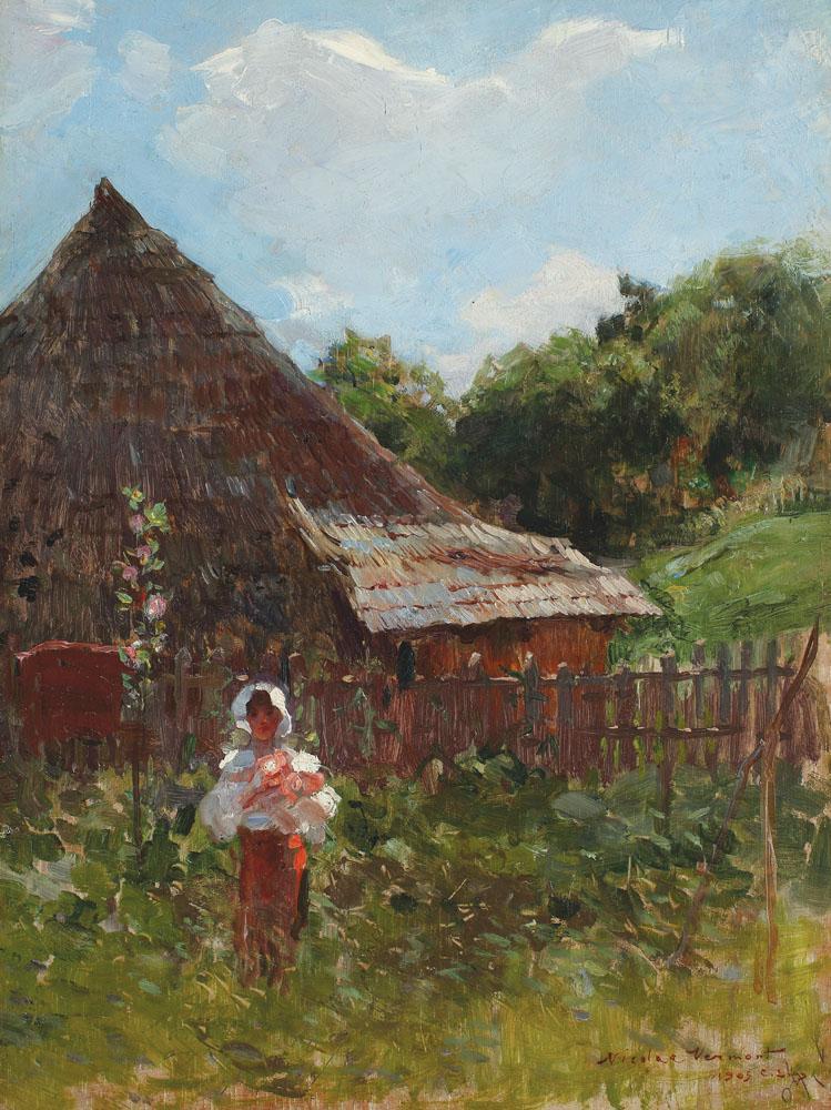 Nicolae Vermont - Țărăncuță cu flori