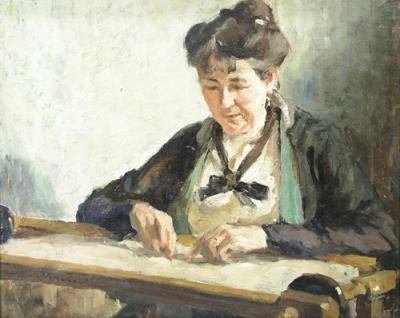 Nicolae Vermont - Lucrand la gherghef