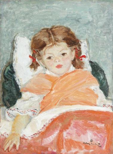 Octav Angheluţă - Fetiţa cu fundiţe roşii