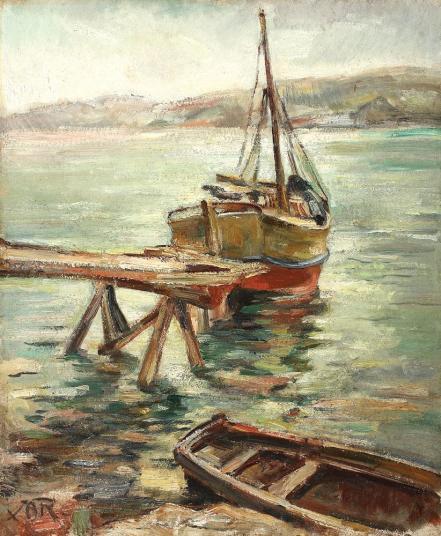 Petre Iorgulescu - Yor - Bărci în port