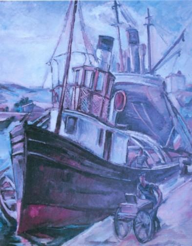 Petre Iorgulescu-Yor - Muncă în port
