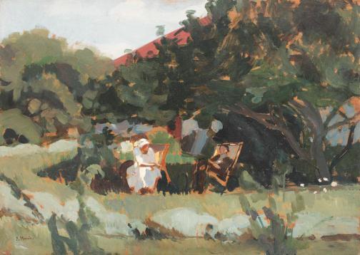 Rodica Maniu Mutzner - Odihnă în grădină