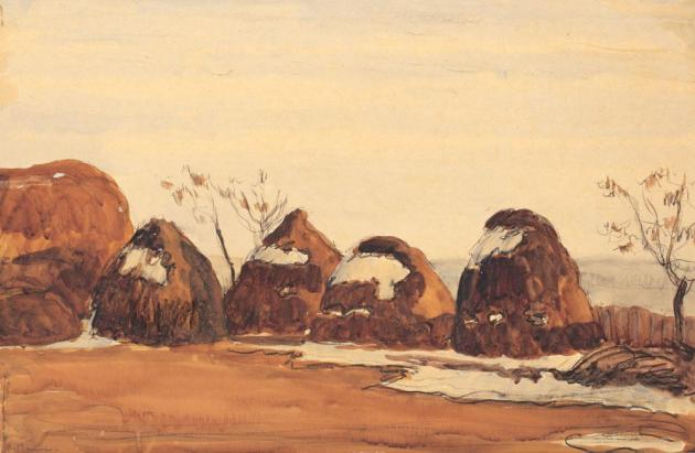 Rodica Maniu Mutzner - Peisaj cu căpiţe