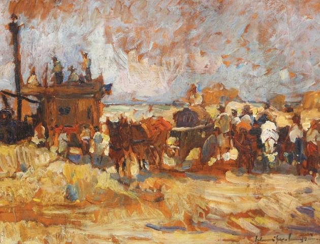 Rudolf Schweitzer-Cumpăna - Împărțirea grâului (Batoza lui Malaxa)