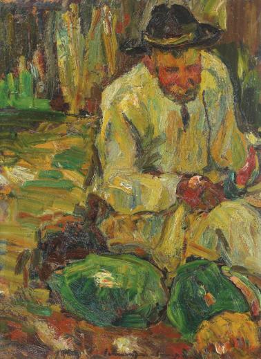 Rudolf Schweitzer-Cumpăna - Ţăran cu pepeni