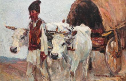 Rudolf Schweitzer-Cumpăna - Car cu boi
