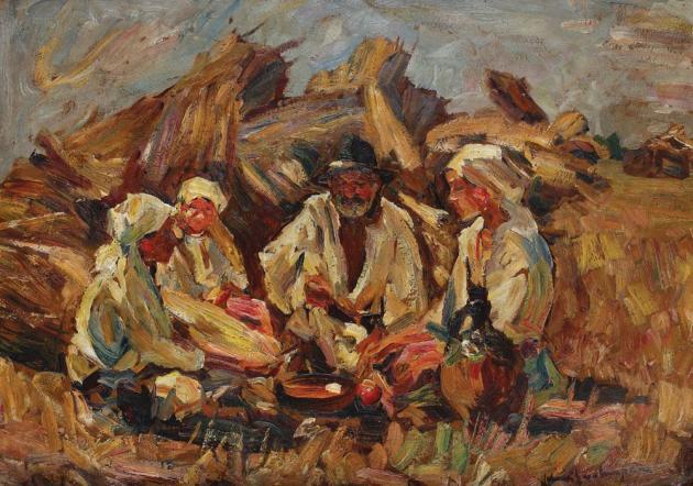 Rudolf Schweitzer-Cumpăna - Familie de țărani