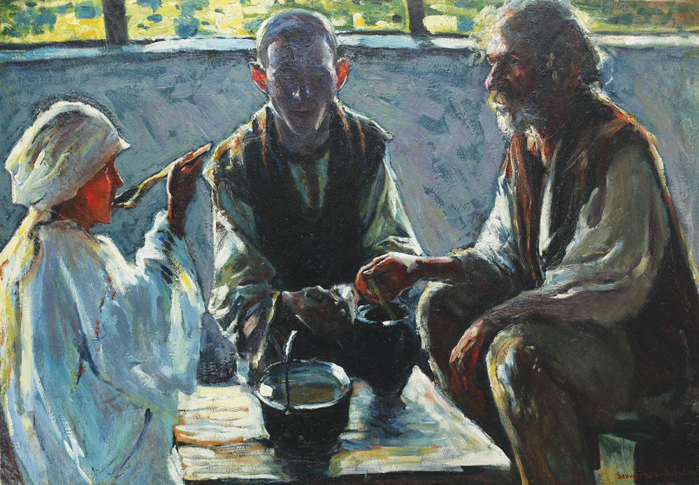 Rudolf Schweitzer-Cumpăna - La o mămăligă