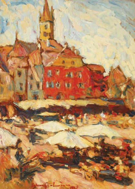 Rudolf Schweitzer-Cumpăna - Piața Mică din Sibiu