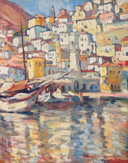 Rudolf Schweitzer-Cumpăna - Port la Hydra