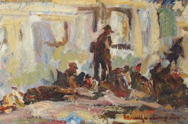 Rudolf Schweitzer-Cumpăna - Soldaţi în gara Sinaiei