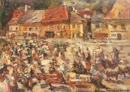 Rudolf Schweitzer-Cumpăna - Târg la Sighişoara