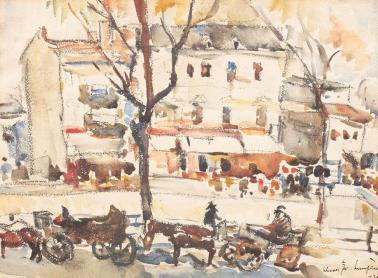 Rudolf Schweitzer-Cumpăna - Trăsuri pe Cheiul Dâmboviței