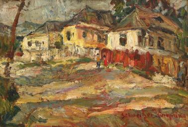 Rudolf Schweitzer-Cumpăna - Uliță de sat argeșean