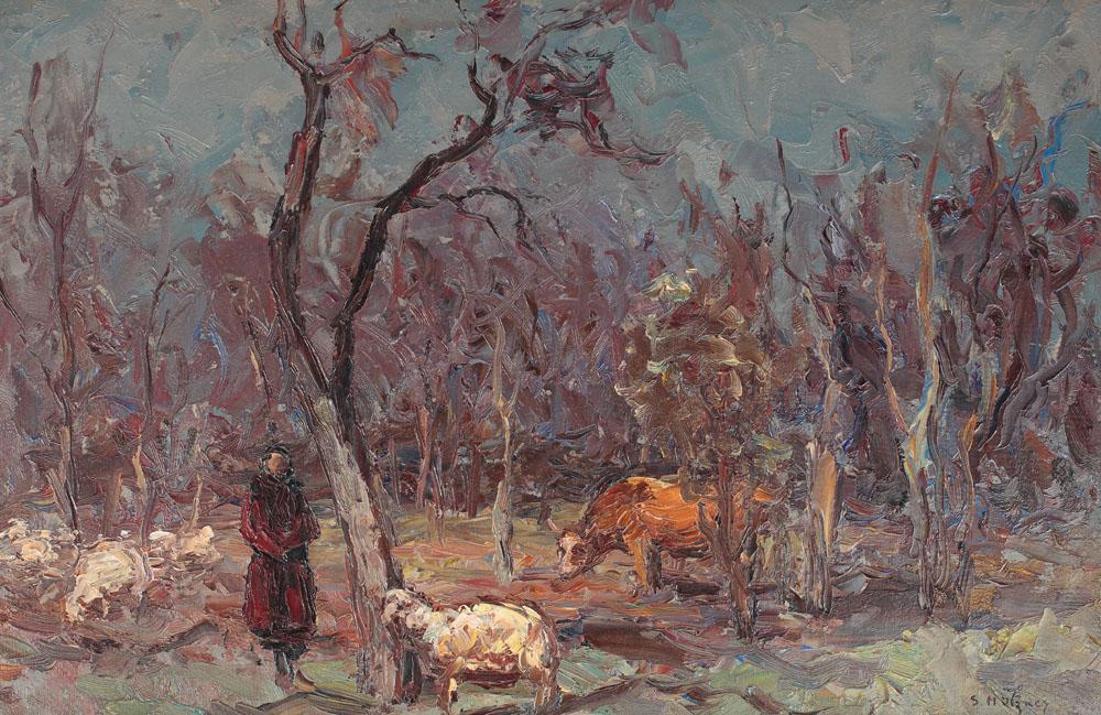 Samuel Mützner - Ciobăniţă pe înserat
