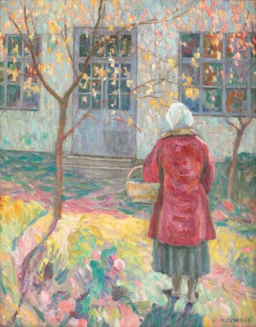 Samuel Mützner - Femeie în grădină, la Şopârliţa