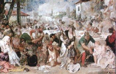Theodor Aman - Boierii surprinşi la ospăţ de trimişii lui Vlad Ţepeş