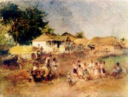 Theodor Aman - Copii Jucand Hora