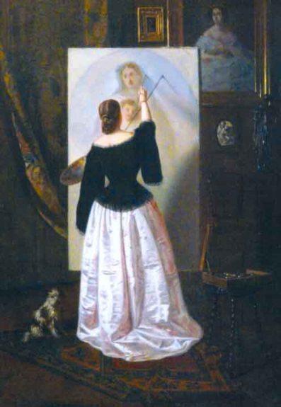 Theodor Aman - Doamna pictand