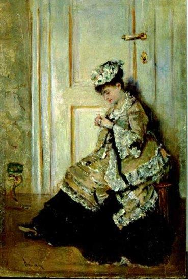 Theodor Aman – Femeie in Interior