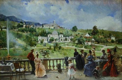 Theodor Aman - Pe terasa la Sinaia (1888)
