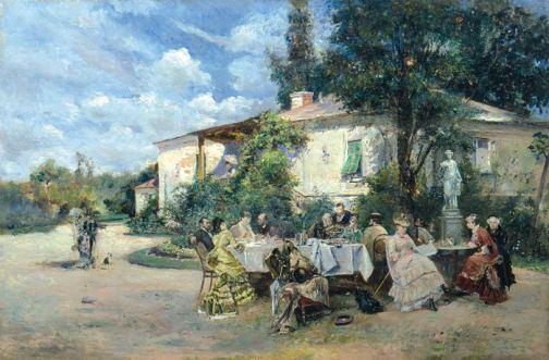 Theodor Aman - Petrecere in gradina