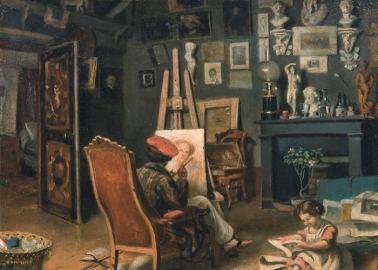Theodor Aman - Primul Atelier al Pictorului la Paris