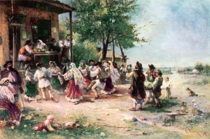 Theodor Aman - Hora la Aninoasa, 1890