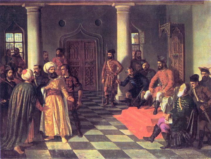 Theodor Aman - Vlad Ţepeş şi  Solii Turci