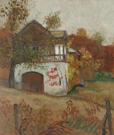 Theodor Pallady - Casă oltenească