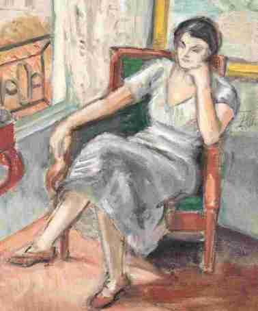 Theodor Pallady - Interior din atelierul din Place Dauphine