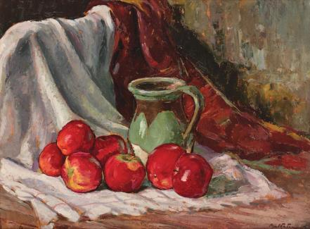 Adam Bălțatu - Natură statică cu mere şi ulcică