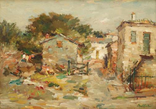 Adam Bălțatu - Peisaj cu case