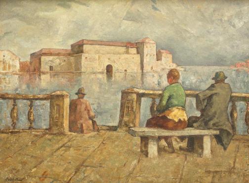 Adam Bălțatu - Vedere asupra insulei San-Giorgio, Veneția