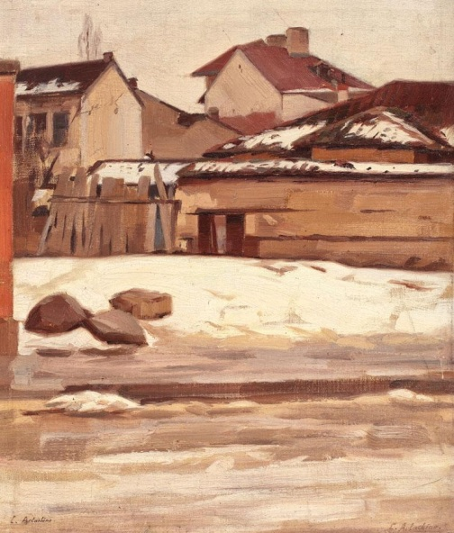 Constantin Artachino - Colț de București, iarna