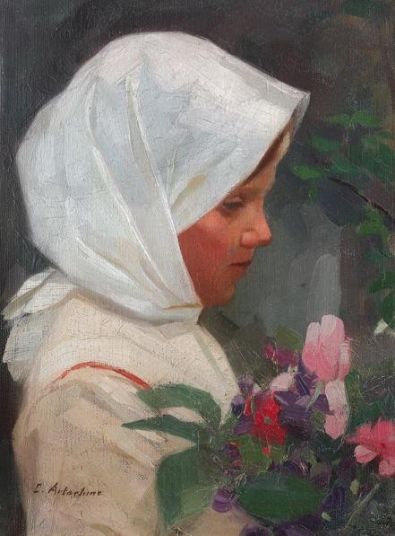 Constantin Artachino - Fetiţa cu flori