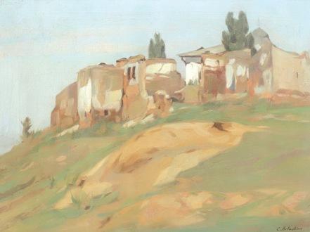 Constantin Artachino - Peisaj cu ruine