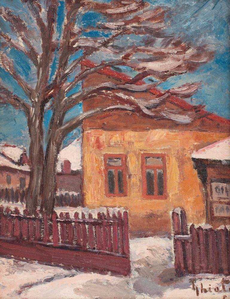 Dumitru Ghiaţă - Birtul satului, iarna