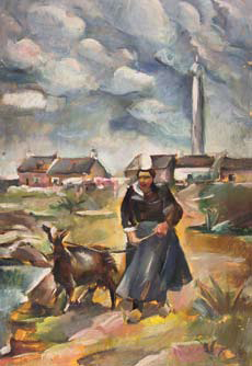 Elena Popea - Femeie cu capra