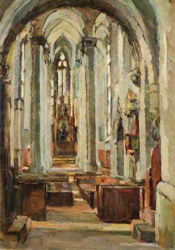 Elena Popea - Interior de catedrala