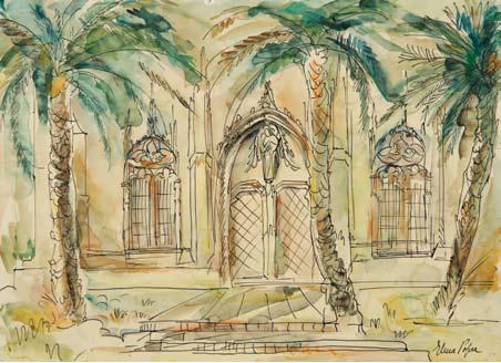 Elena Popea - Peisaj cu palmieri