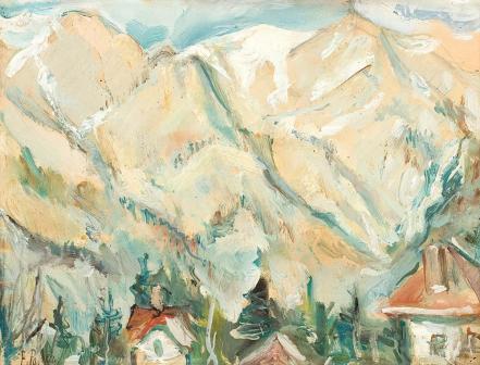Elena Popea - Peisaj de munte