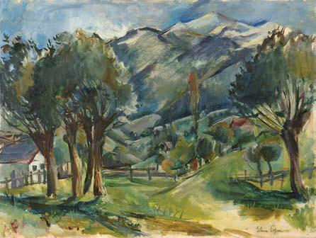 Elena Popea - Peisaj din Bucegi