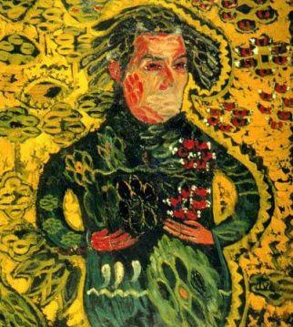 Ion Ţuculescu - Autoportret pe fond galben