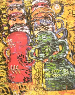 Ion Ţuculescu - Compoziţie cu papusi