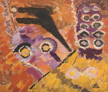 Ion Ţuculescu - Figură violacee