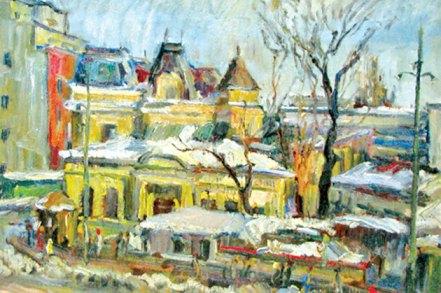 Ion Ţuculescu - Mahala în Bucureşti